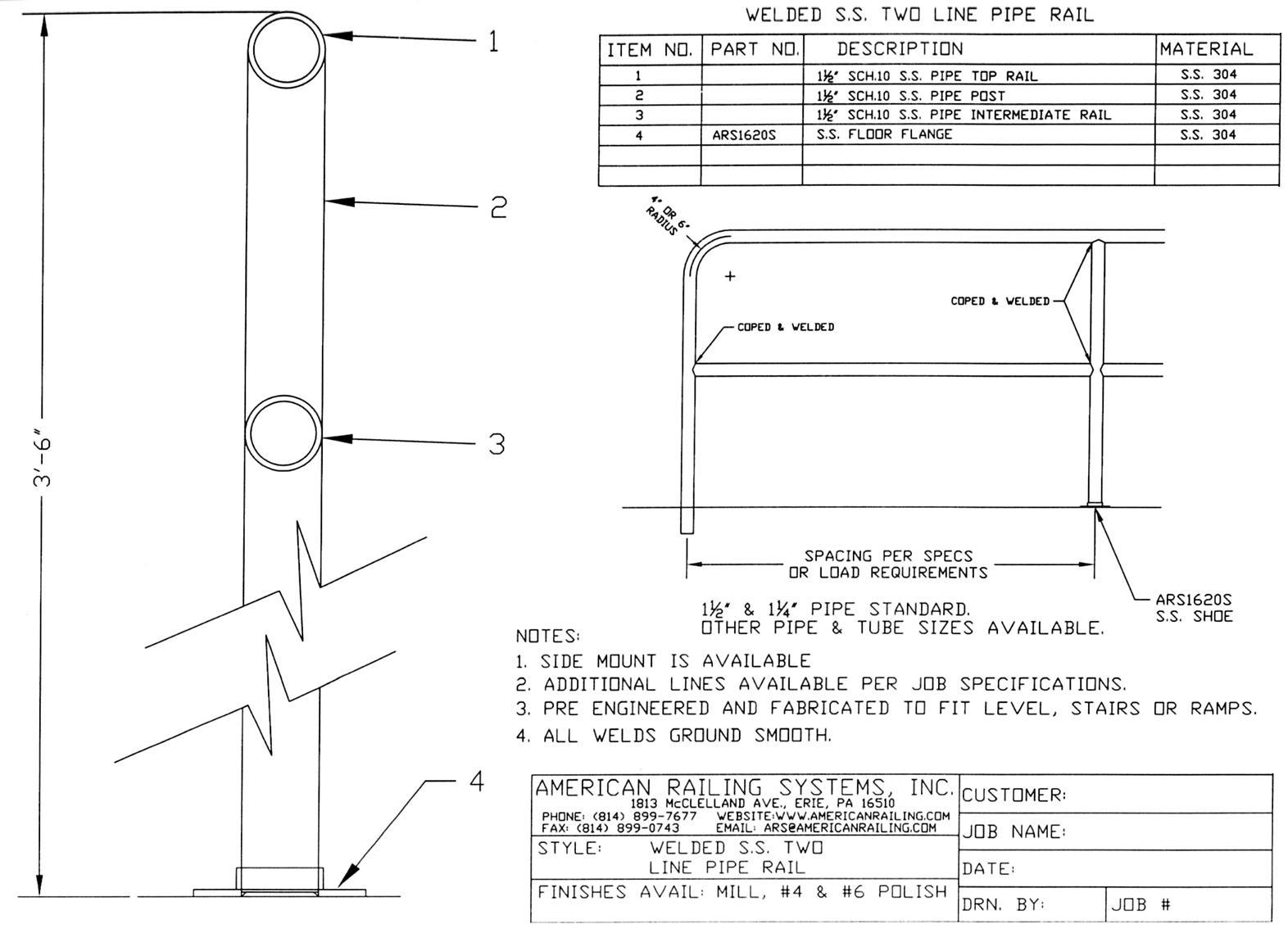Cad Details American Railing Systems Inc